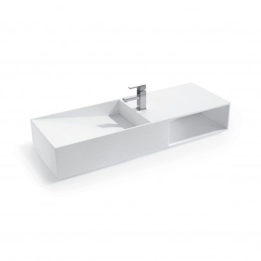 Lavabo mural Jacobs 120 en Solid Surface