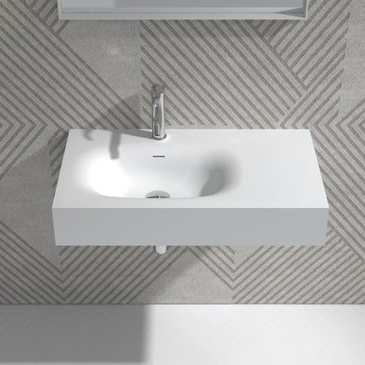 Lavabo mural Jasmin 80 en Solid Surface