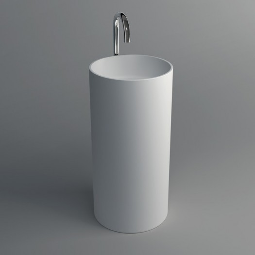 Lavabo colonne Joy en Solid Surface