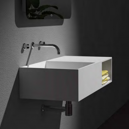 Lavabo mural Jacobs 80 en Solid Surface