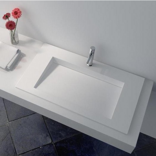 Plan Vasque en Solid Surface Lily