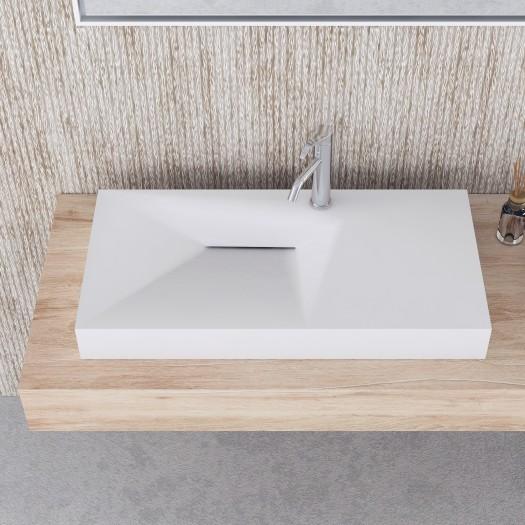 Lavabo à suspendre Linaria 90cm en Solid Surface