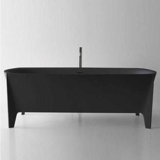 Baignoire îlot Lisboa Black en Solid Surface 170cm