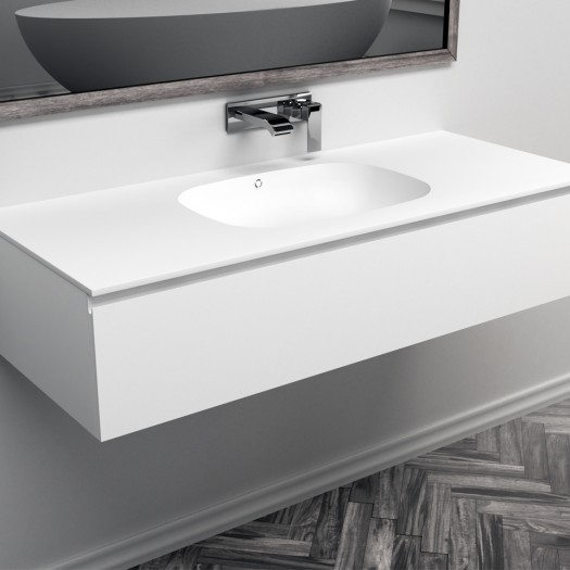 Ensemble Vasque Corian® Peace + Meuble 1 Tiroir