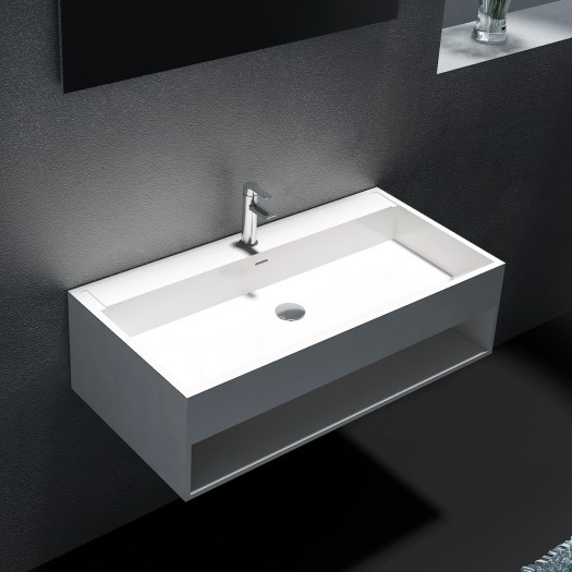 Lavabo mural Narciso 90cm en Solid Surface