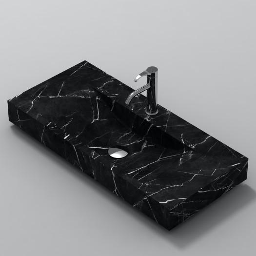 Lavabo à poser en Marbre Marquina S1 100cm
