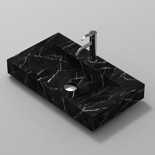 Lavabo à poser en Marbre Marquina S1 80cm