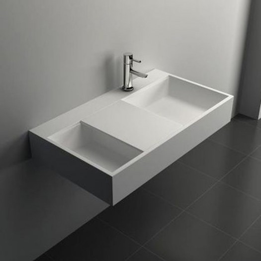 Lavabo mural Nyon 80 en Solid Surface