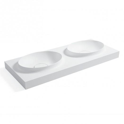 Double vasque à suspendre Parodia en Solid Surface