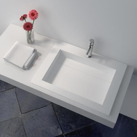 Plan Vasque en Solid Surface Peony