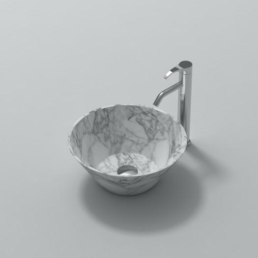 Lavabo à poser Perla en Marbre Carrara