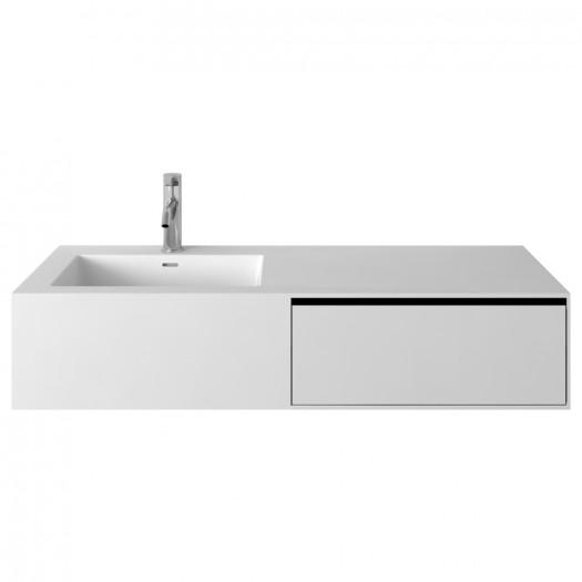 Meuble-vasque Petunia en Solid Surface - 1 tiroir