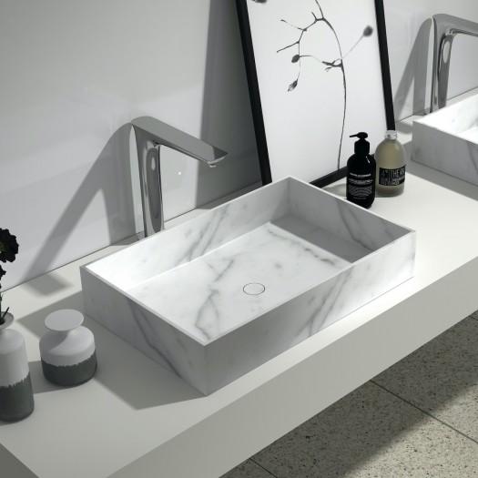 Lavabo à poser Pilar en Marbre Carrara