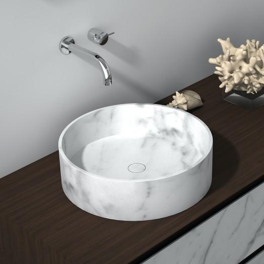 Lavabo à poser Prana en Marbre Carrara