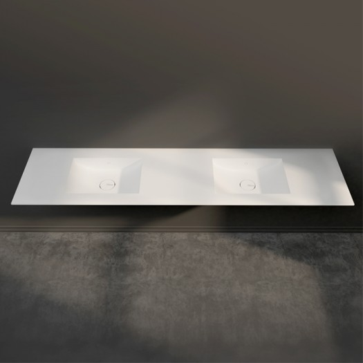 Double Plan vasque Corian® Refresh 7410 - Toutes Tailles