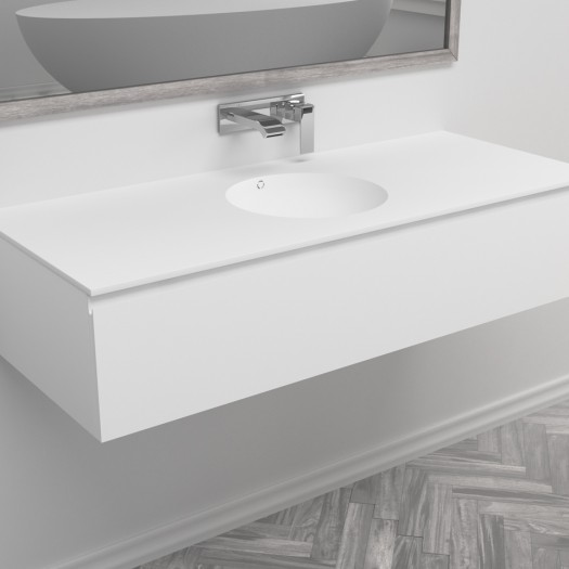 Ensemble Vasque Corian® Purity + Meuble 1 Tiroir