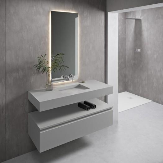 Vasque suspendue en Corian® Silver Gray Tennessee