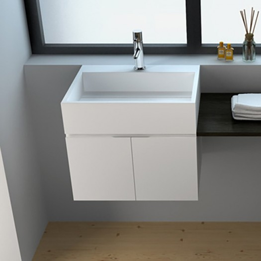 Meuble-lavabo Rosy en Solid Surface