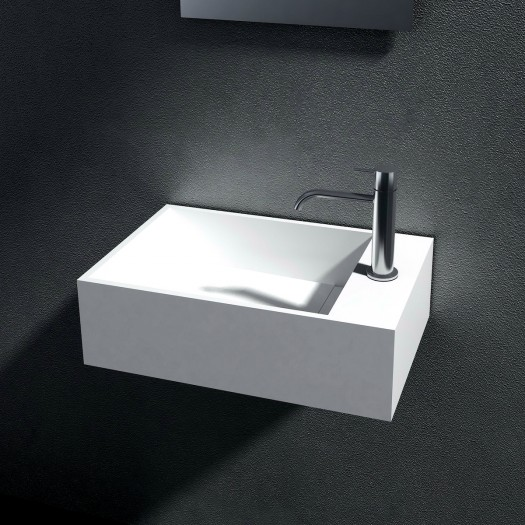 Lavabo mural Sidonia 50cm en Solid Surface