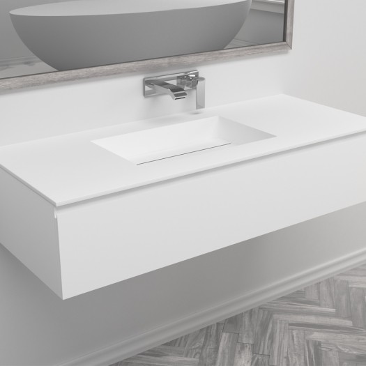 Ensemble Vasque Corian® Texas + Meuble 1 Tiroir