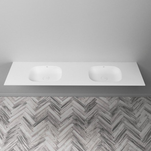 PLAN DOUBLE VASQUE EN CORIAN® PEACE