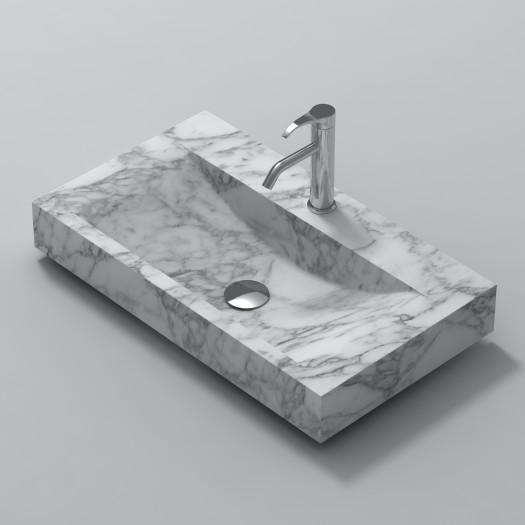 Lavabo à poser en Marbre Carrara S1 80cm