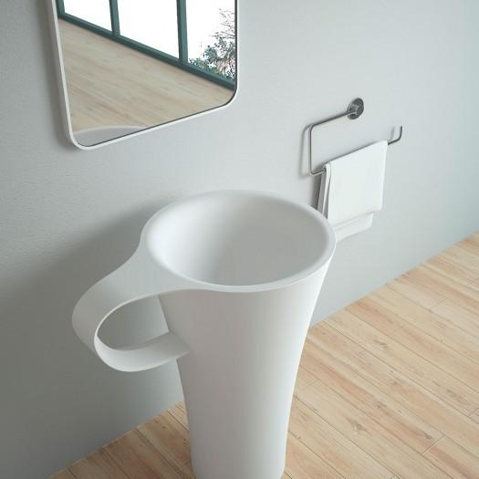 Lavabo colonne Altea en Solid Surface