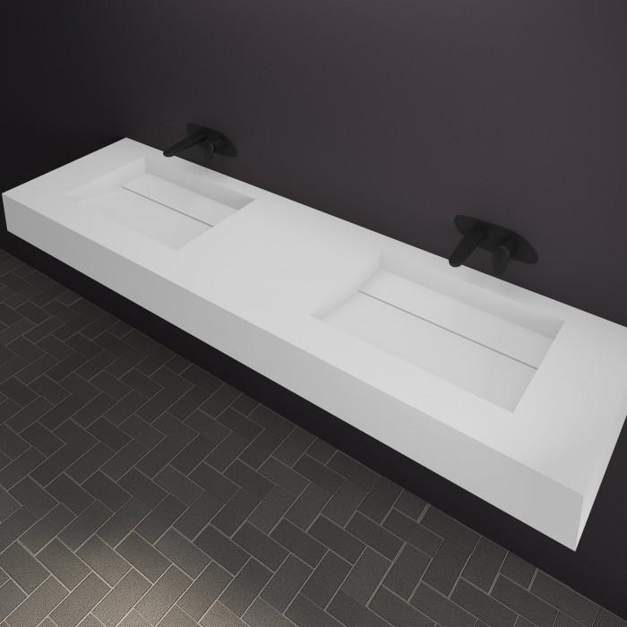 Double Vasque Profondeur 40 Cm : Double vasque corian alabama elegance et design dans