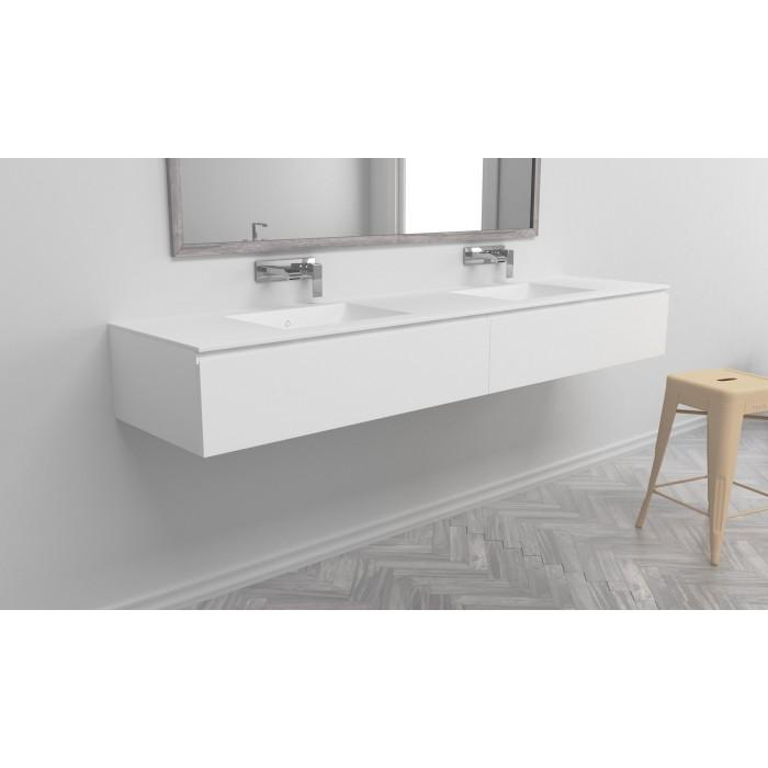 ensemble vasque corian refresh sur meuble suspendu 2 tiroirs align s mobilier salle de bains. Black Bedroom Furniture Sets. Home Design Ideas