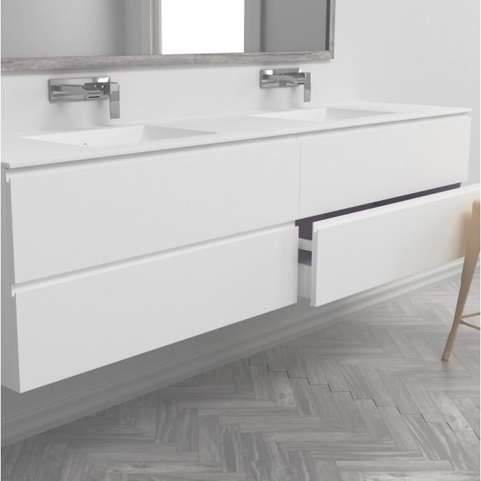 ensemble vasque corian refresh sur meuble suspendu 4 tiroirs mobilier salle de bain. Black Bedroom Furniture Sets. Home Design Ideas