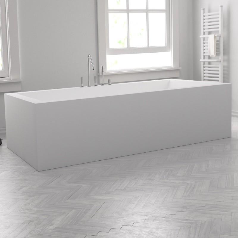 baignoire sur mesure en corian pose libre. Black Bedroom Furniture Sets. Home Design Ideas