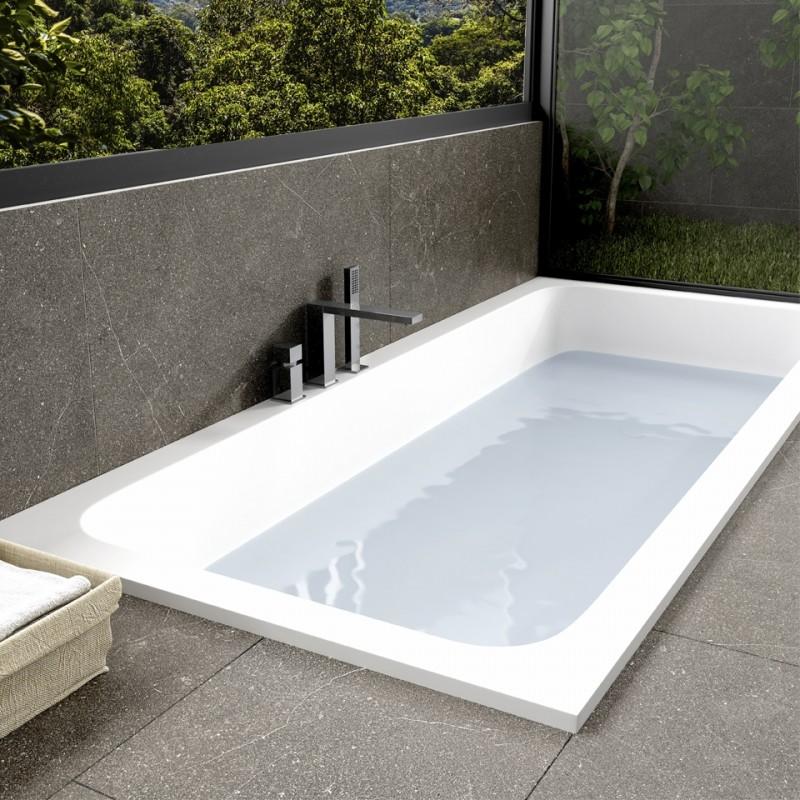 baignoire sur mesure en corian encastrer salle de bains tendance baignoire encastrer en. Black Bedroom Furniture Sets. Home Design Ideas