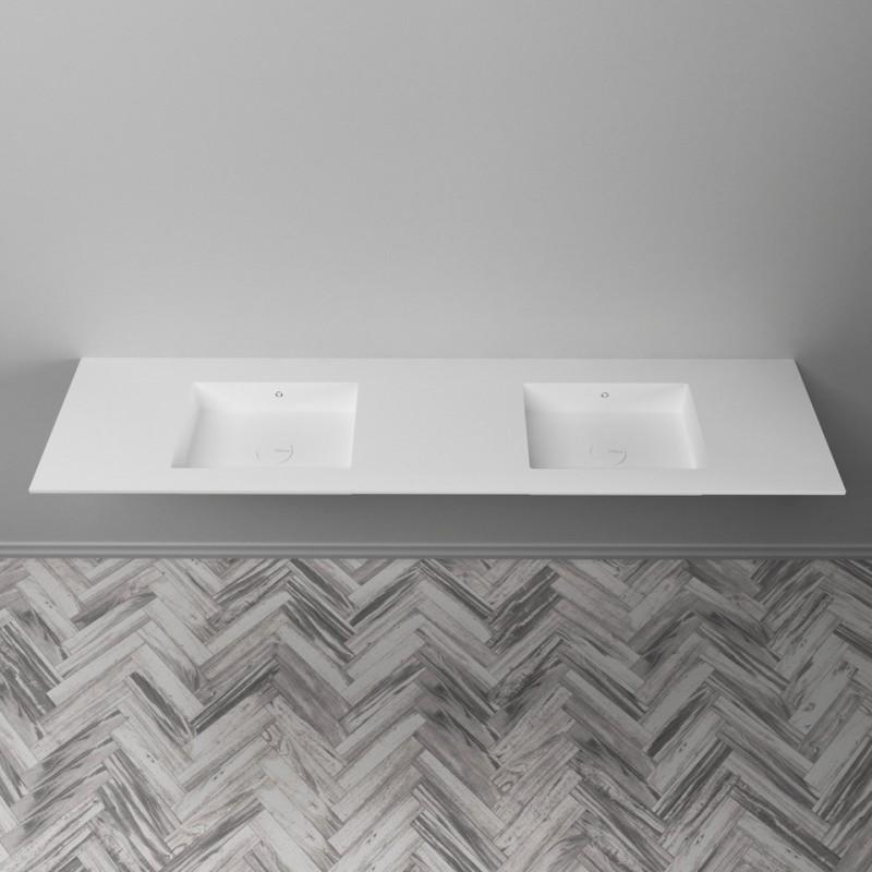 plan double vasque corian energy dupont corian solid. Black Bedroom Furniture Sets. Home Design Ideas