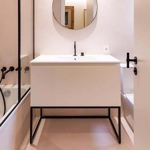 Möbel auf Metallbasis Combi mit 1 Schublade + Corian® Waschbecken