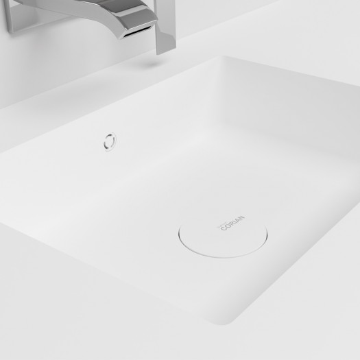 Waschtisch Corian® Energy + Gaia Classic Wand- Unterschrank aus MDF - 1 Schublade