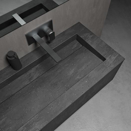 Gaia Renaissance Wand- Badezimmermöbel alle Corian® + Alabama Plus Waschtisch - 1 Schublade