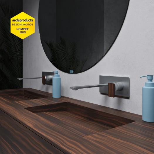 Tennessee Doppelwaschtisch + Gaia Renaissance alle Corian® Colour Schrank - 2 Schubladen