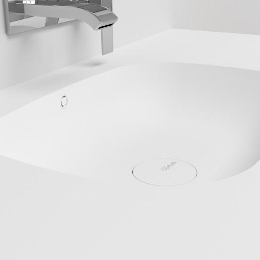 Waschtisch Corian® Peace + Gaia Classic Wand- Unterschrank aus MDF - 1 Schublade