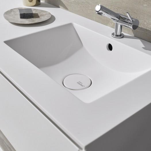 Refresh Corian® Waschtisch + Athena Classic Unterschrank - 2 Schubladen