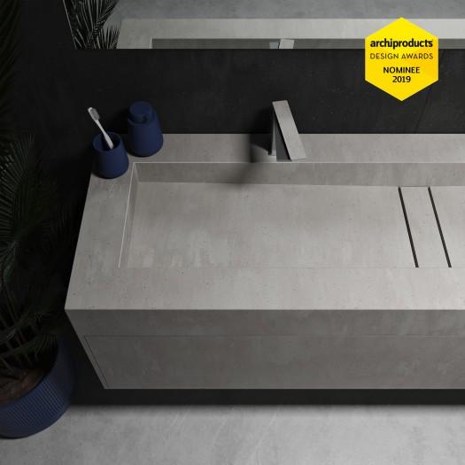 Gaia Renaissance Wand- Badezimmermöbel alle Corian® + Area Waschtisch - 1 Schublade
