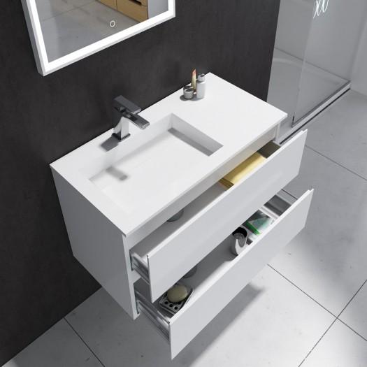 Badezimmermöbel Denia aus Mineralguss - 2 Schubladen