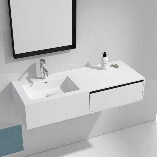 Wandbadezimmermöbel mit Waschbecken Petunia aus Mineralguss