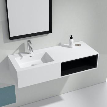 Meuble-vasque Petunia en Solid Surface - 1 alcove noire