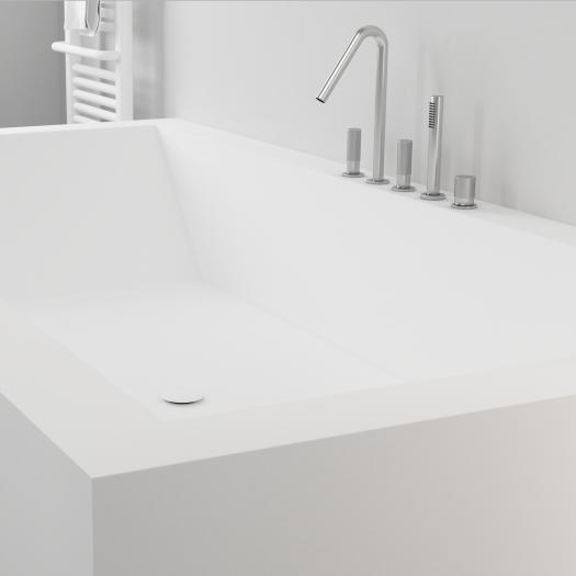 baignoire sur mesure en corian fabrication de haute qualit pour salle de bains unique. Black Bedroom Furniture Sets. Home Design Ideas
