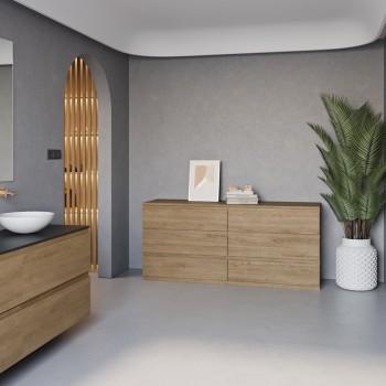 Meuble à poser indépendant Gaia Wood en Chêne Massif - 6 tiroirs