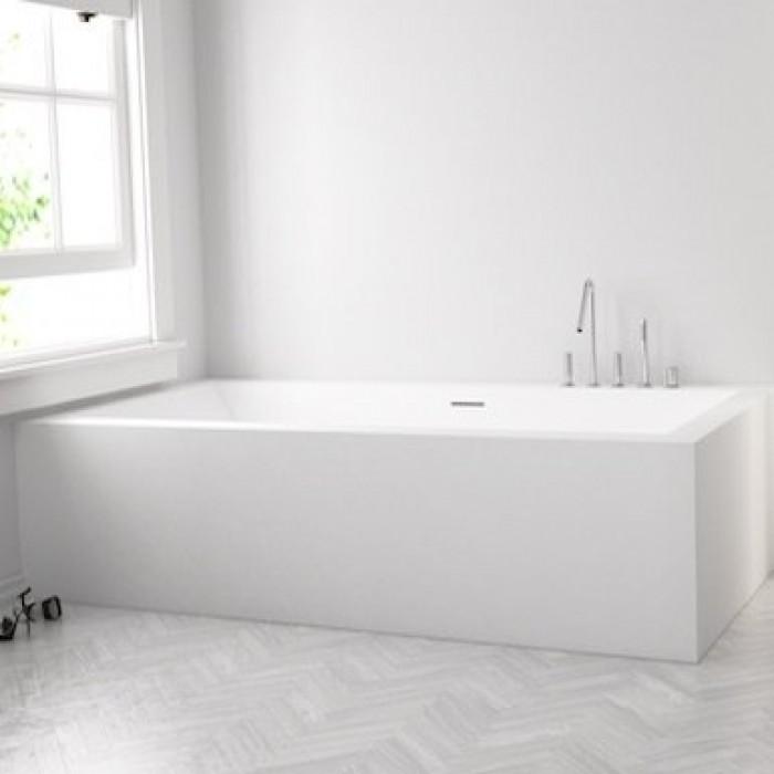 baignoire sur mesure en corian avec 2 tabliers solid. Black Bedroom Furniture Sets. Home Design Ideas