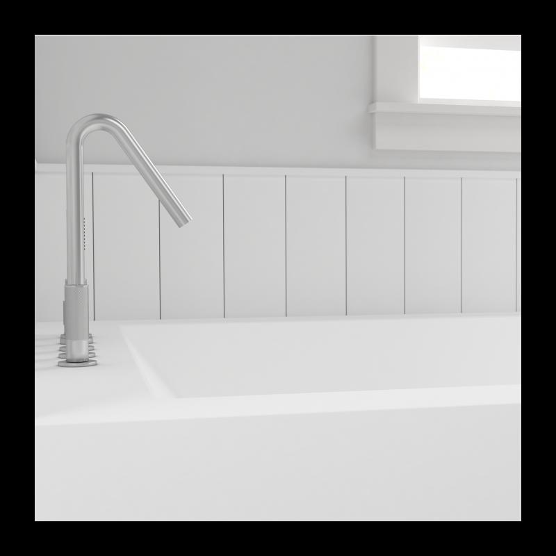 baignoire sur mesure avec 1 panneau mural corian by dupont. Black Bedroom Furniture Sets. Home Design Ideas