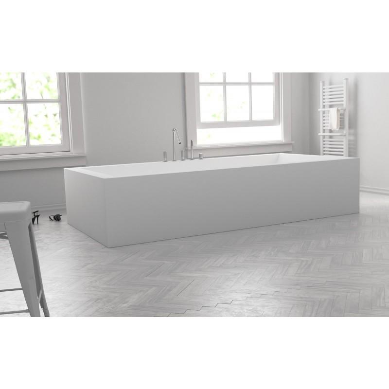 baignoire sur mesure en corian libre pose. Black Bedroom Furniture Sets. Home Design Ideas