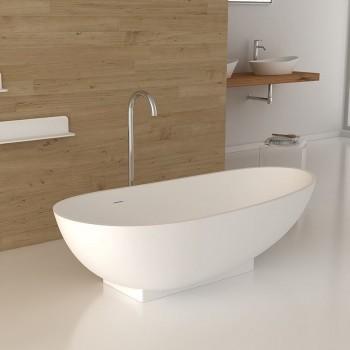 Freistehende Badewanne aus Mineralguss Paris