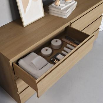 Gaia Wood Freistehende Badezimmermöbel aus Eiche Massiv - 6 Schubladen